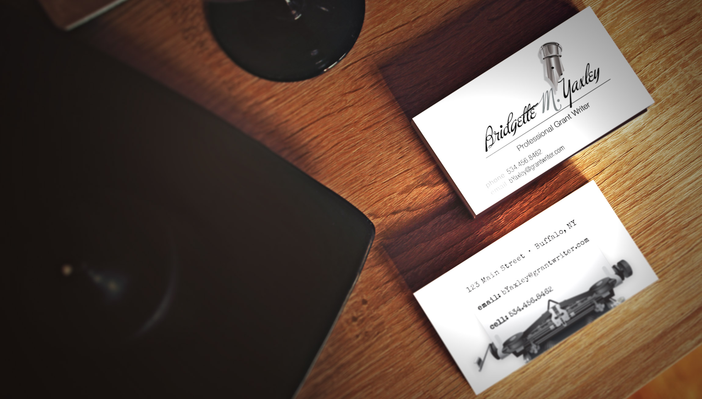 Printing and Design - Business Card Mockups for a Grant Writer