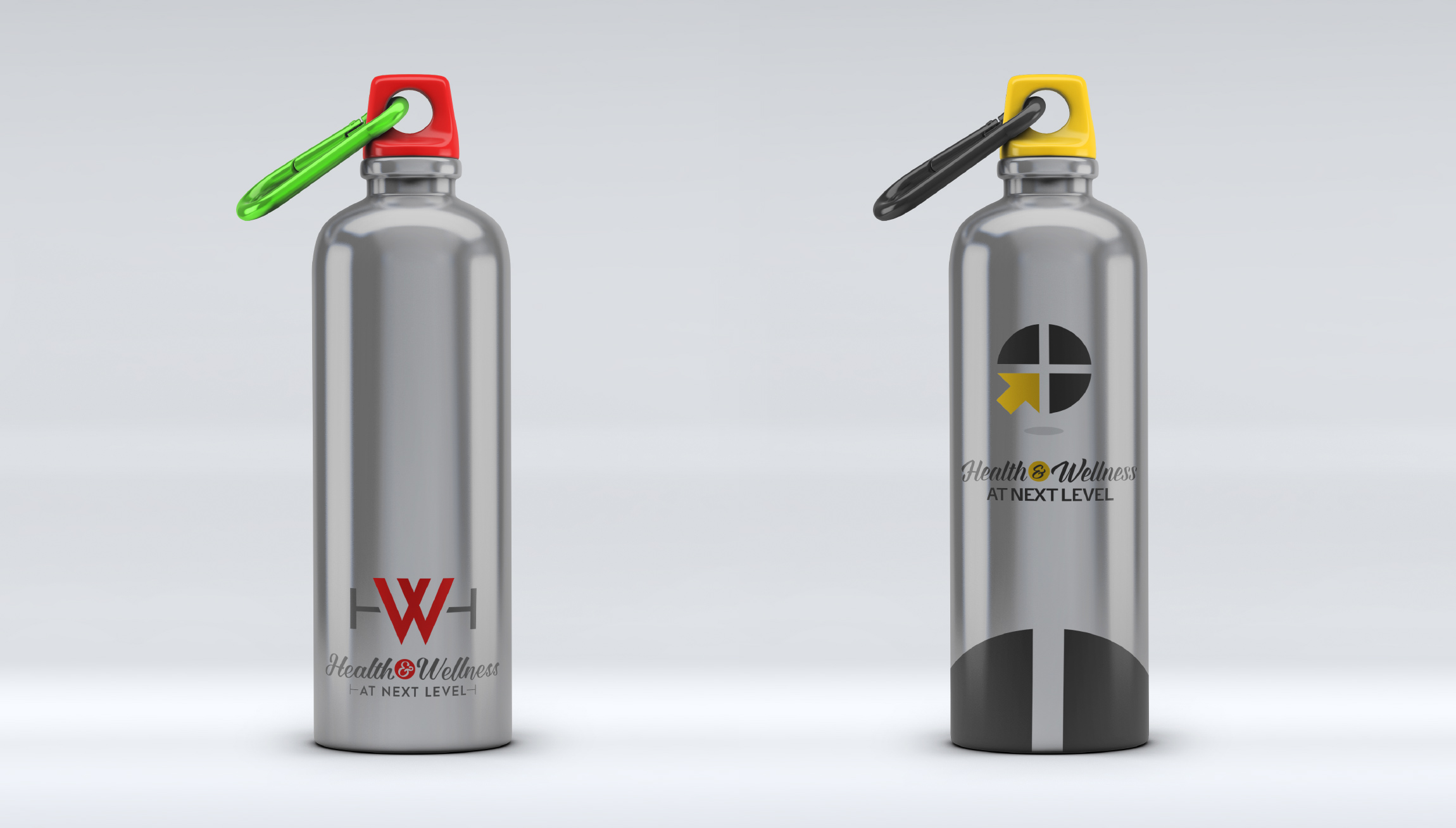 Printing and Design - Double Walled Sports Bottle Mockups for Health and Wellness at Next Level