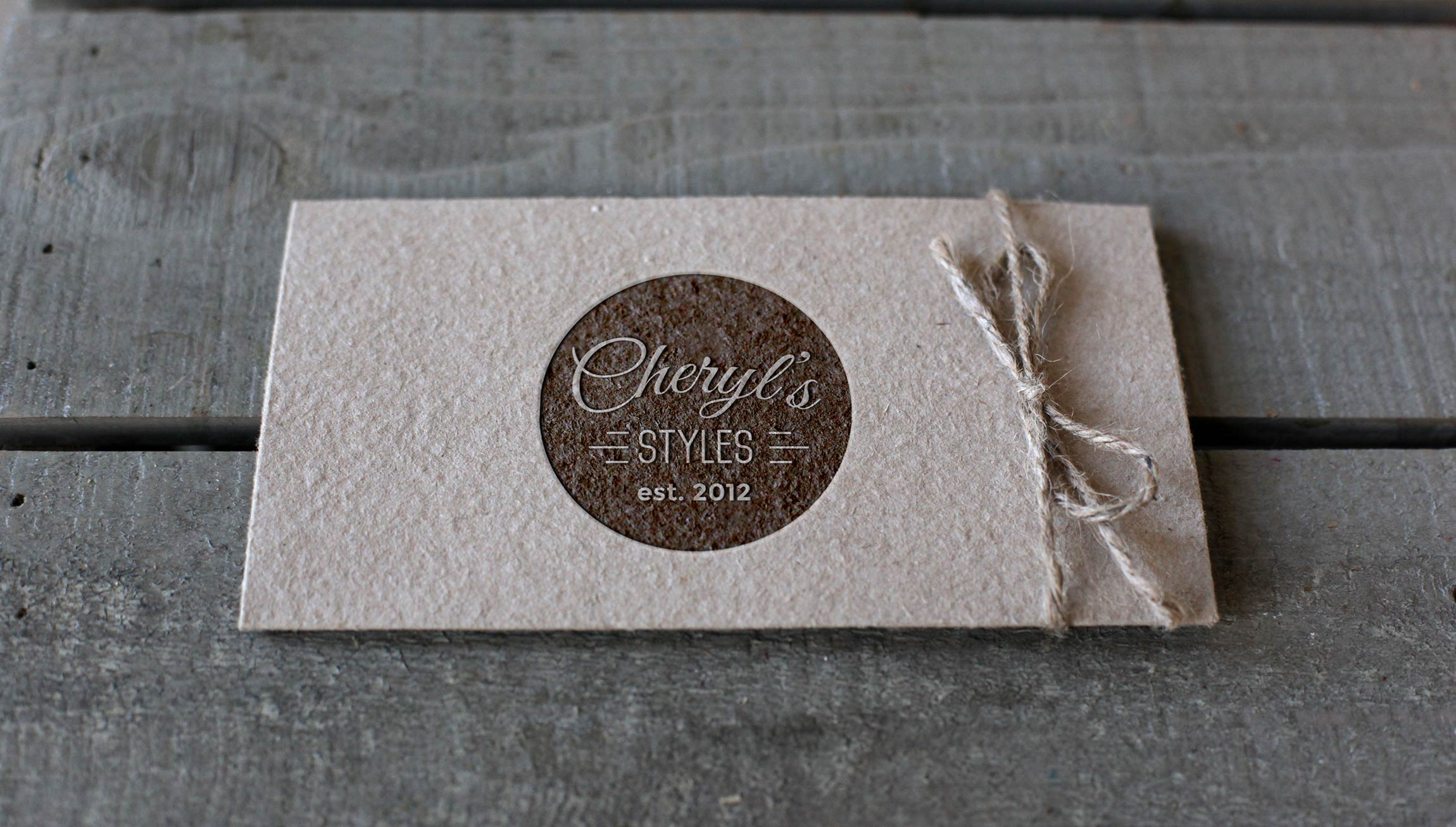 Printing and Design - Kraft Paper Business Card Mockups for Cheryl's Styles