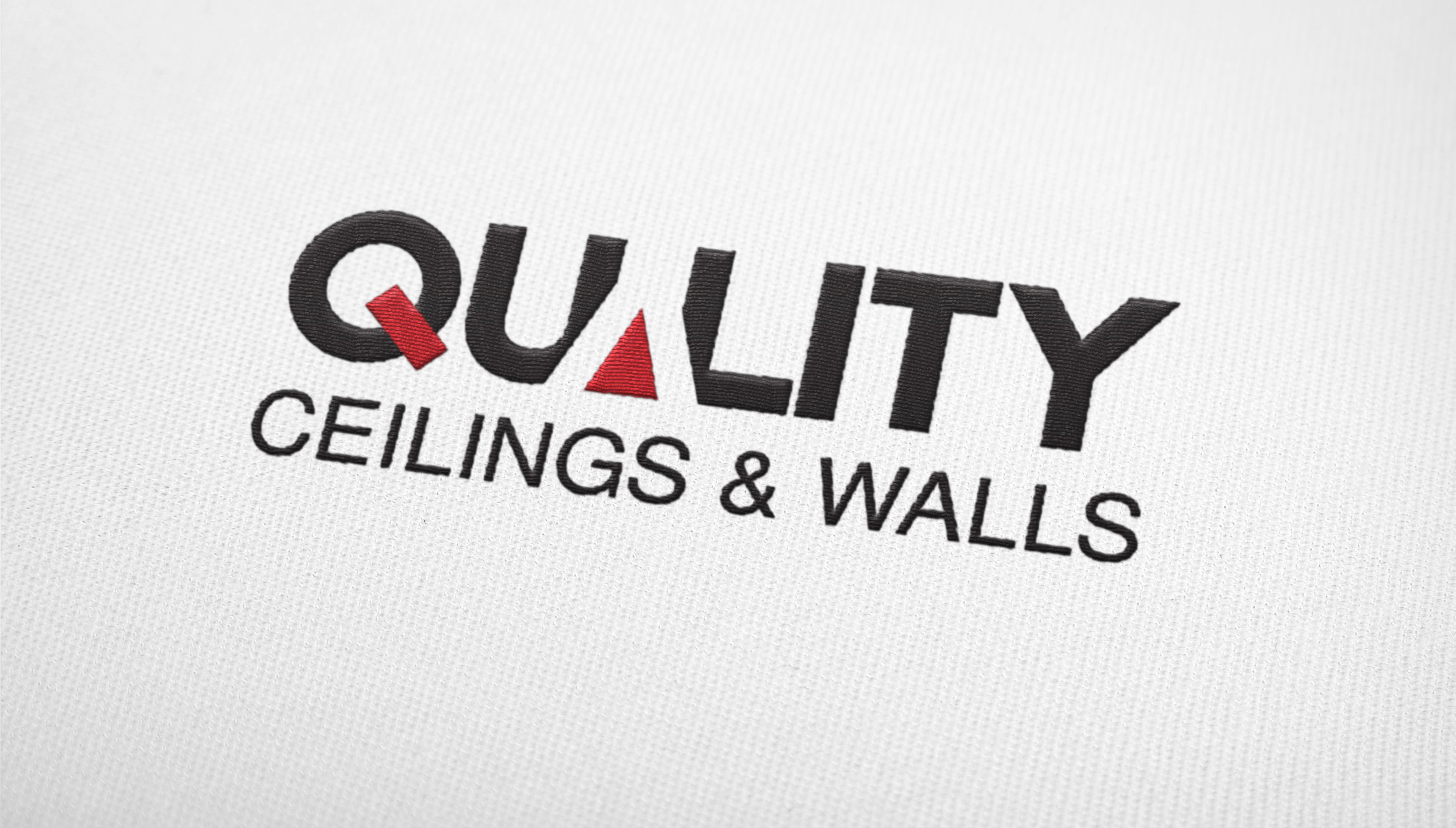 Logo & Branding - Logo design mockup for Quality Ceilings & Walls