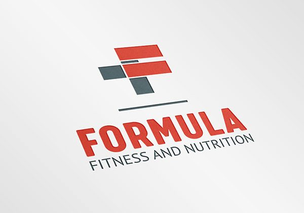 "Formula Fitness Logo Design by Prime Encode using the ""+"" and ""="" signs to form the ""F"" in their logo - Logo & Branding"